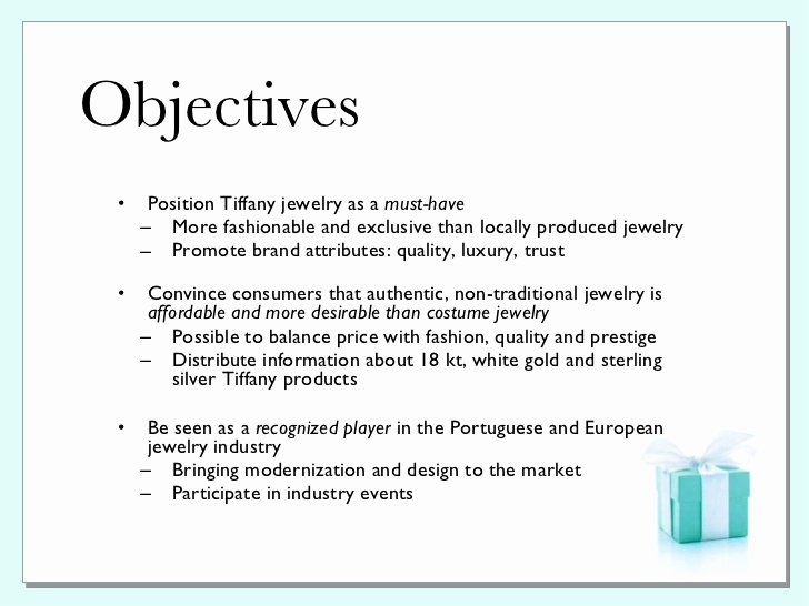 Public Relations Proposal Sample New Tiffany & Co Pr Plan