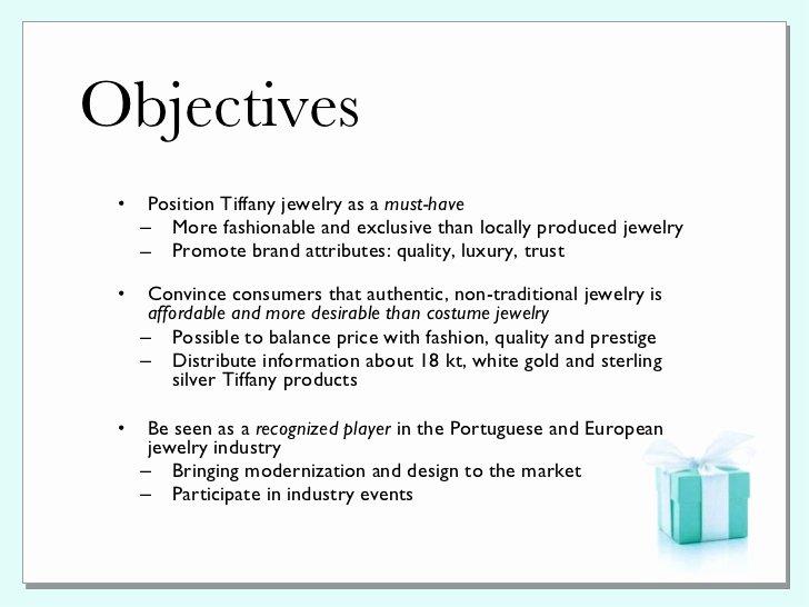 Public Relations Proposal Sample New Tiffany & Co Pr Plan