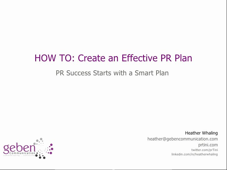 Public Relations Proposal Template Unique How to Start Creating A Pr Plan