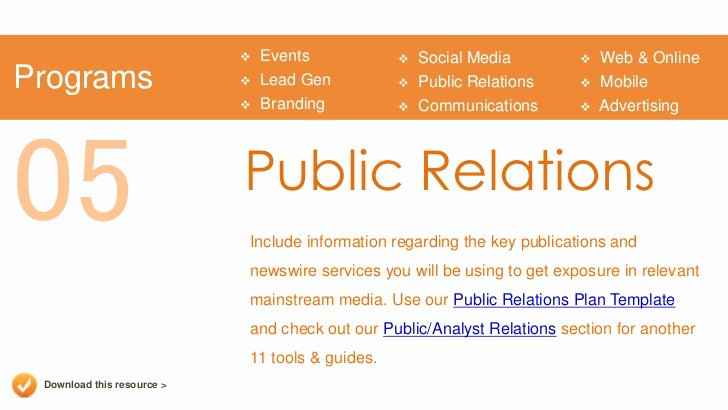 Public Relations Proposal Template Unique Marketing Plan Presentation Template