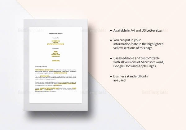 Public Relations Proposal Template Unique Sample formal Proposal 14 Documents In Pdf Word