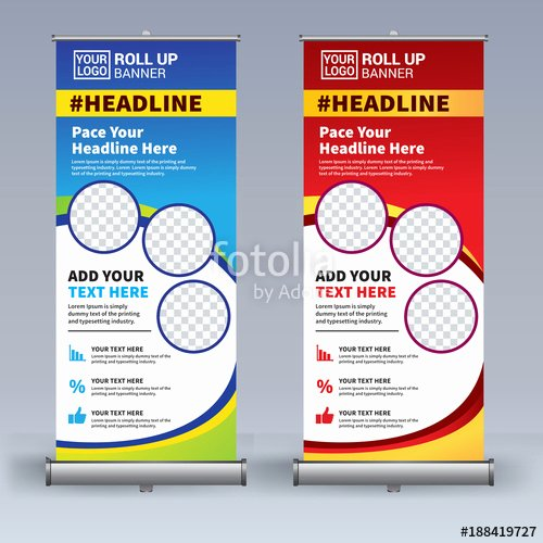 """Pull Up Banner Designs Awesome """"roll Up Banner Design Template Vertical Abstract"""