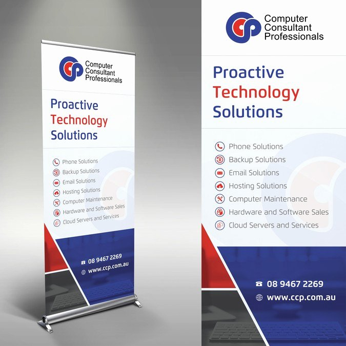 Pull Up Banner Designs Unique Pull Up Banner for It Service Pany