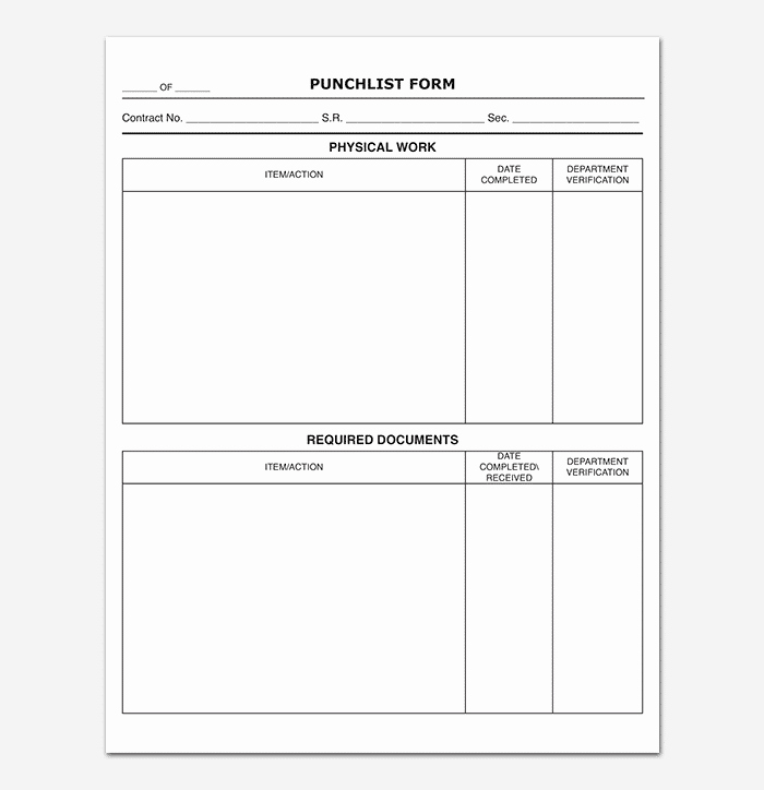 Punch List Template Excel Luxury Punch List Template 14 Word Excel Pdf format