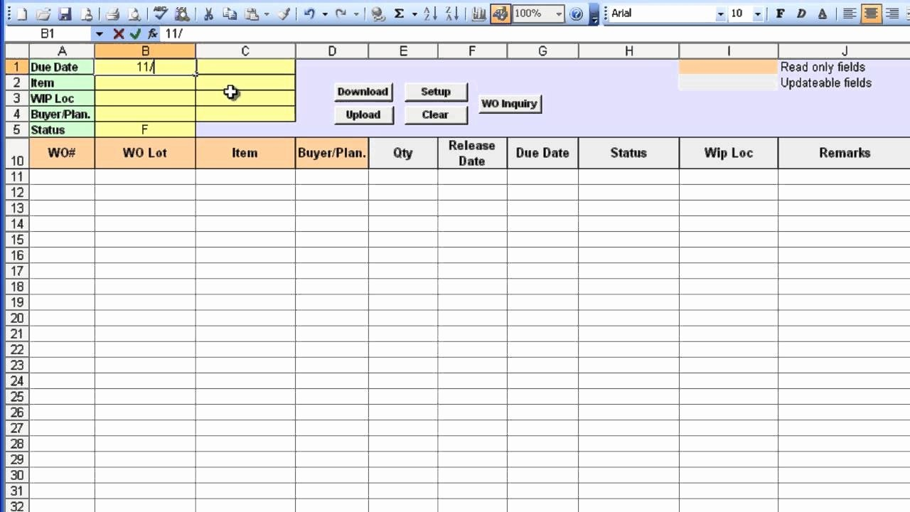Purchase order Tracker Excel Beautiful Excel order Tracking Template