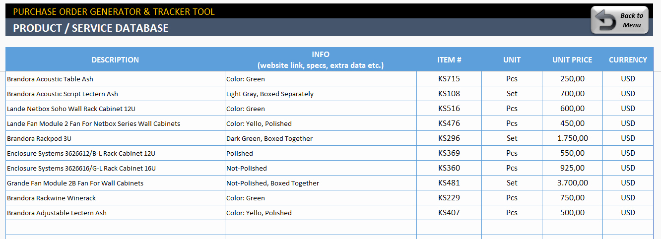 Purchase order Tracker Excel Fresh Excel Purchase order Template Ready to Download
