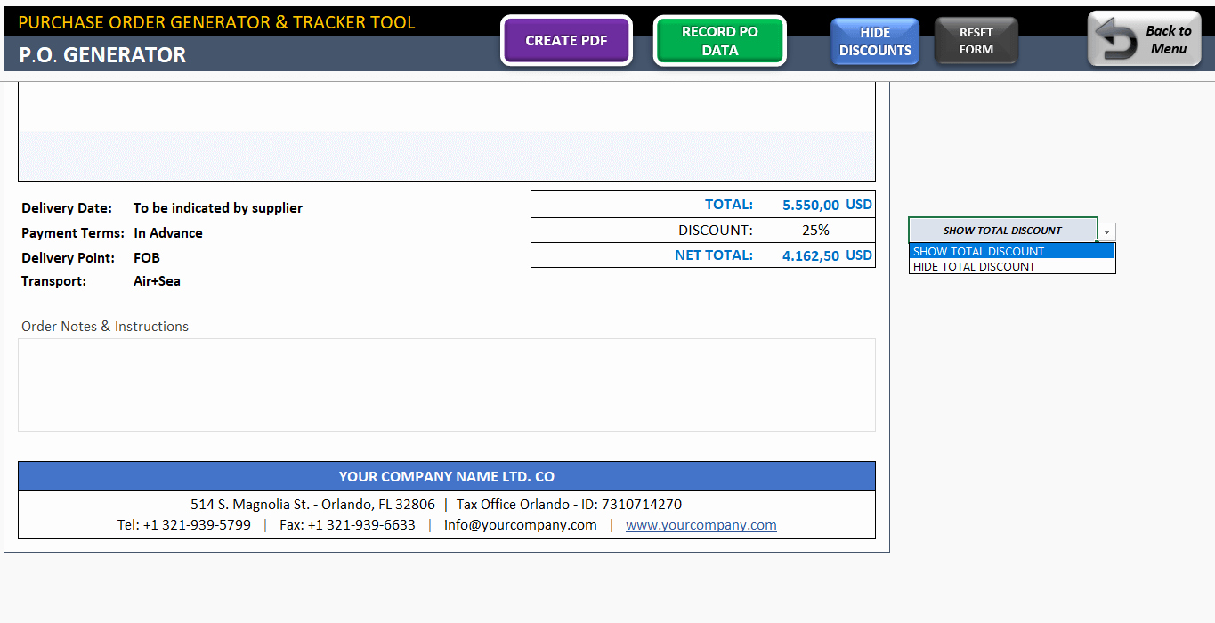 Purchase order Tracker Excel New Excel Purchase order Template Ready to Download