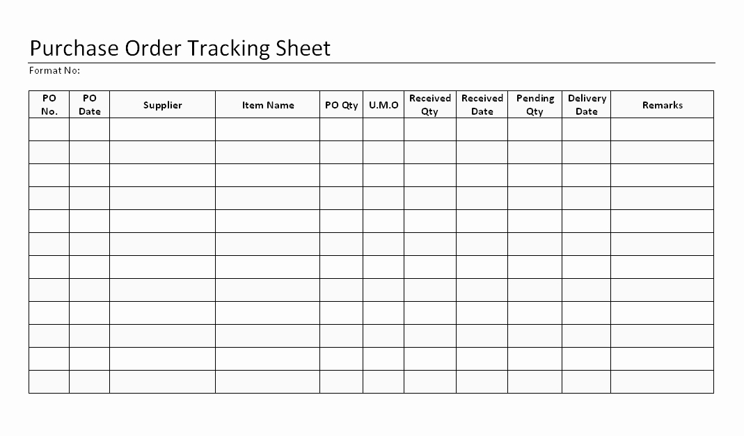 Purchase order Tracking Excel Awesome Purchase order Tracking Sheet