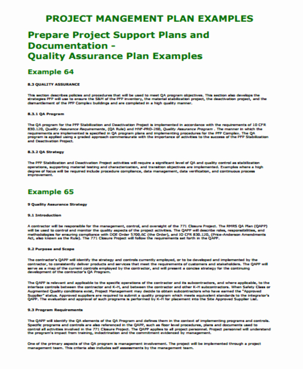 Quality assurance Plan Template Elegant 12 Project Quality assurance Plan Templates Pdf