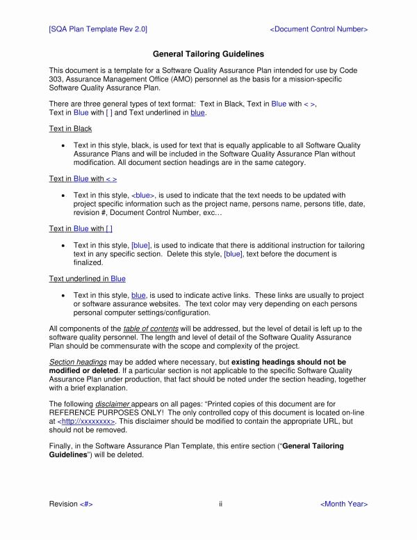 Quality assurance Plan Templates Lovely 9 Quality assurance Plan Templates Pdf Word