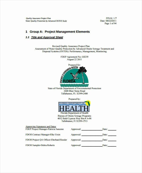 Quality assurance Plan Templates Luxury 10 Laboratory Quality assurance Plan Templates Pdf Doc