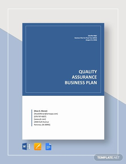 Quality assurance Plan Templates Unique 16 Quality assurance Plan Templates Word Pdf Google Docs