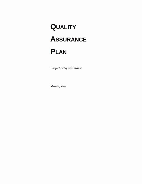 Quality assurance Plans Template Inspirational Free 9 Quality assurance Plan Templates In Pdf