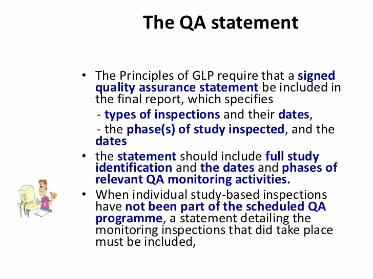 Quality assurance Reports Examples Fresh Qa and Glp