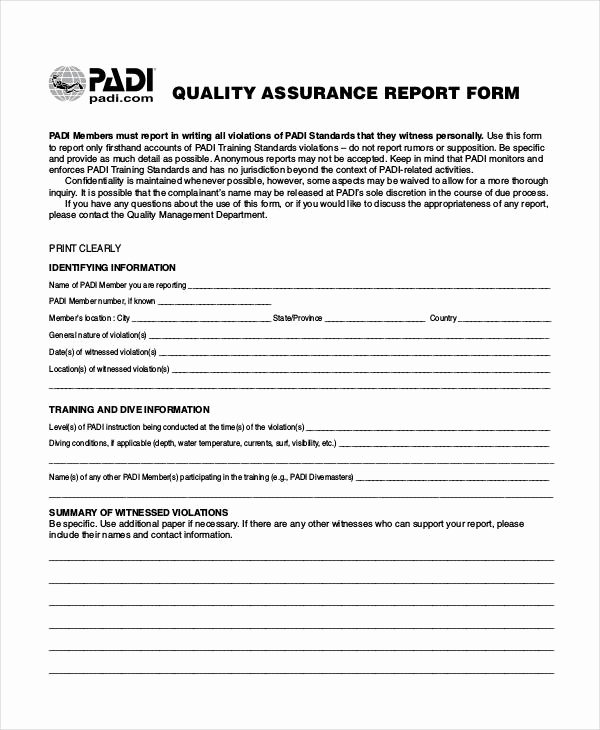 Quality assurance Reports Examples New 15 Quality Report Templates Pdf Word Pages Docs