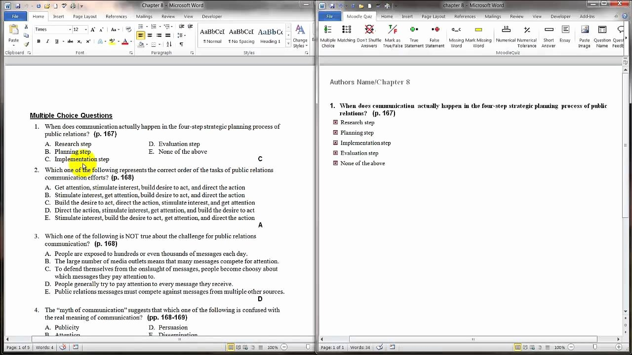 Questions and Answers Template Inspirational Tips for Bringing Pre Existing Questions to Word Quiz