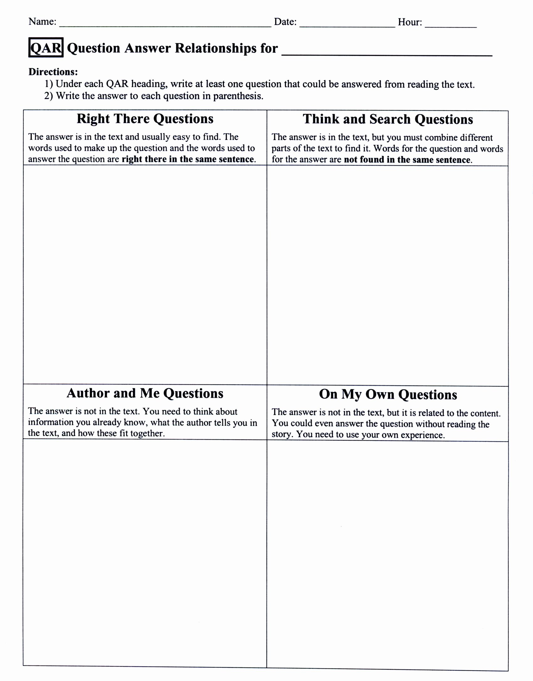 Questions and Answers Template Luxury Brittany S Esol Strategies Teaching Blog Esol Strategies