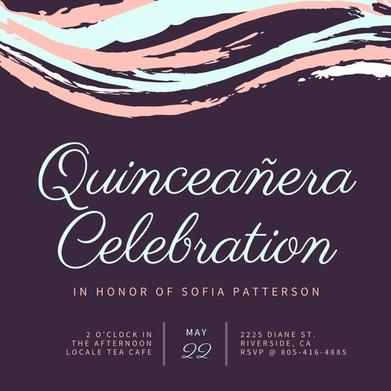 Quinceanera Invitation Templates Free Beautiful Customize 39 Quinceanera Invitation Templates Online Canva