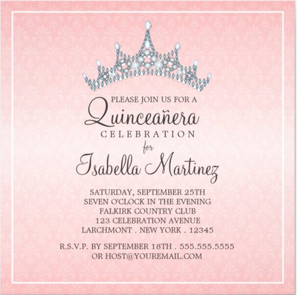 Quinceanera Invitation Templates Free Beautiful Free Printable Quinceanera Invitation Templates