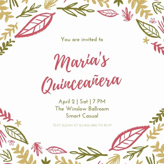 Quinceanera Invitation Templates Free Best Of Customize 34 Quinceanera Invitation Templates Online Canva