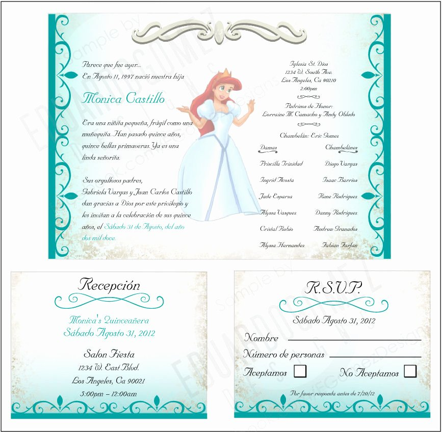 Quinceanera Invitation Templates Free Elegant Finished Project Quinceanera Invitation