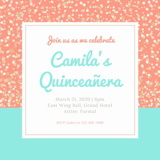 Quinceanera Invitation Templates Free Inspirational Customize 45 Quinceanera Invitation Templates Online Canva