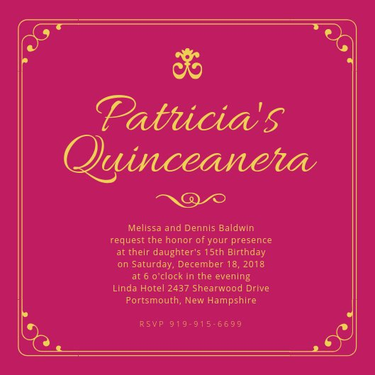 Quinceanera Invitation Templates Free Luxury Customize 40 Quinceanera Invitation Templates Online Canva