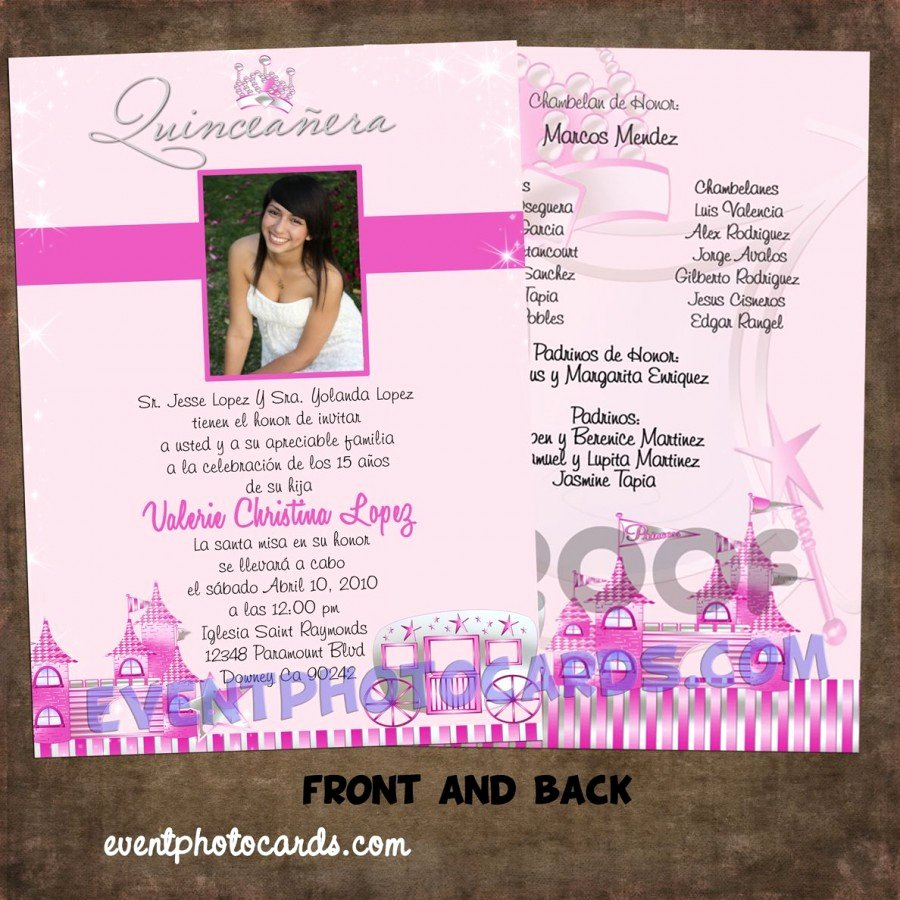 Quinceanera Invitation Templates Free New Princess Beautiful Quinceanera Invitations Carriage