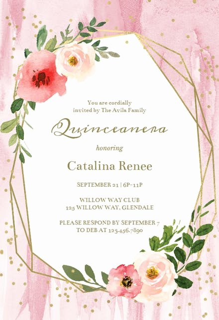 Quinceanera Invitation Templates Free Unique Party Invitation Templates Free