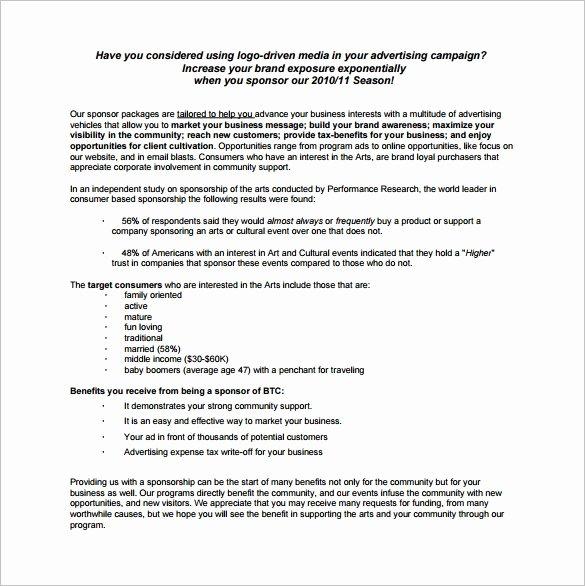 Race Car Sponsorship Packages Inspirational Sponsorship Proposal Template 22 Free Word Excel Pdf