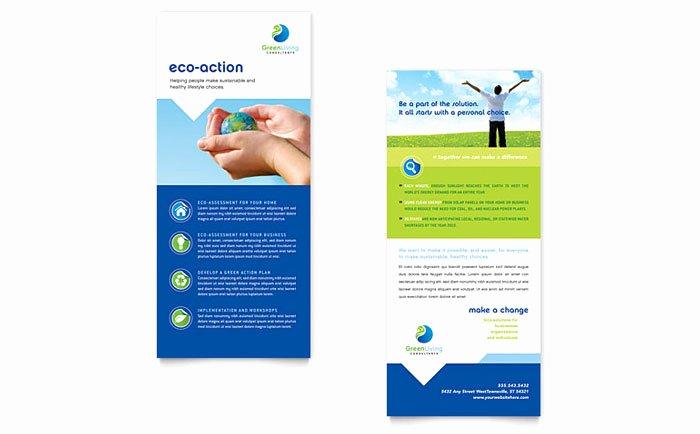 Rack Card Template Indesign Elegant Green Living & Recycling Rack Card Template Design