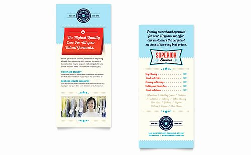 Rack Card Template Indesign Elegant Laundry Services Brochure Template Design