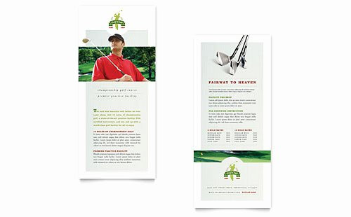 Rack Card Template Indesign Luxury Golf Course & Instruction Tri Fold Brochure Template Design