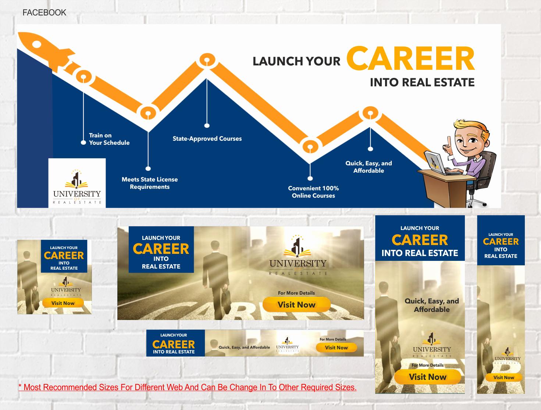 Real Estate Banner Ads Elegant Real Estate Banner Ad Design for Net Lease Group by 3p