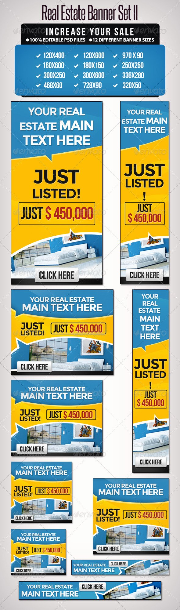 Real Estate Banner Ads Fresh Real Estate Banner Set Ii 12 Sizes by Doto