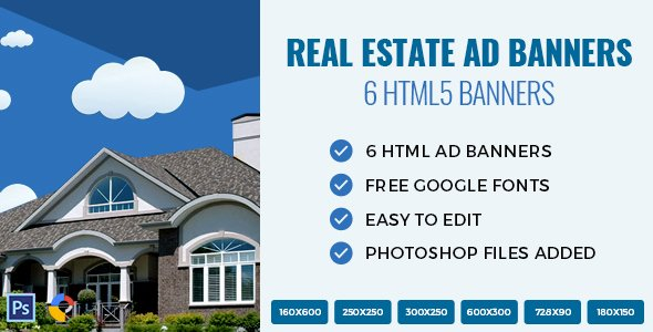 Real Estate Banner Ads Fresh Real Estate HTML Ad Banners by Exe Design