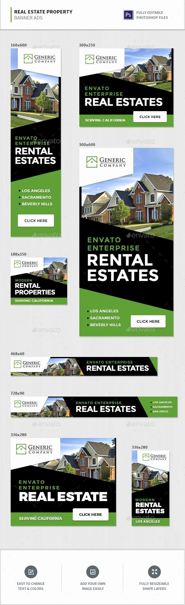 Real Estate Banner Ads Lovely Pin by Best Graphic Design On Web Banners Template Psd
