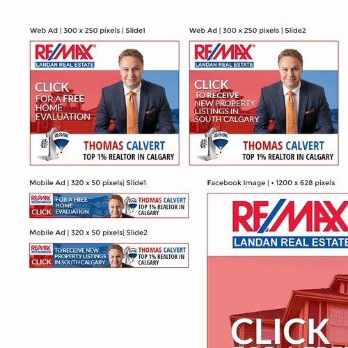 Real Estate Banner Ads New Banner Ads for Re Max Real Estate Agent