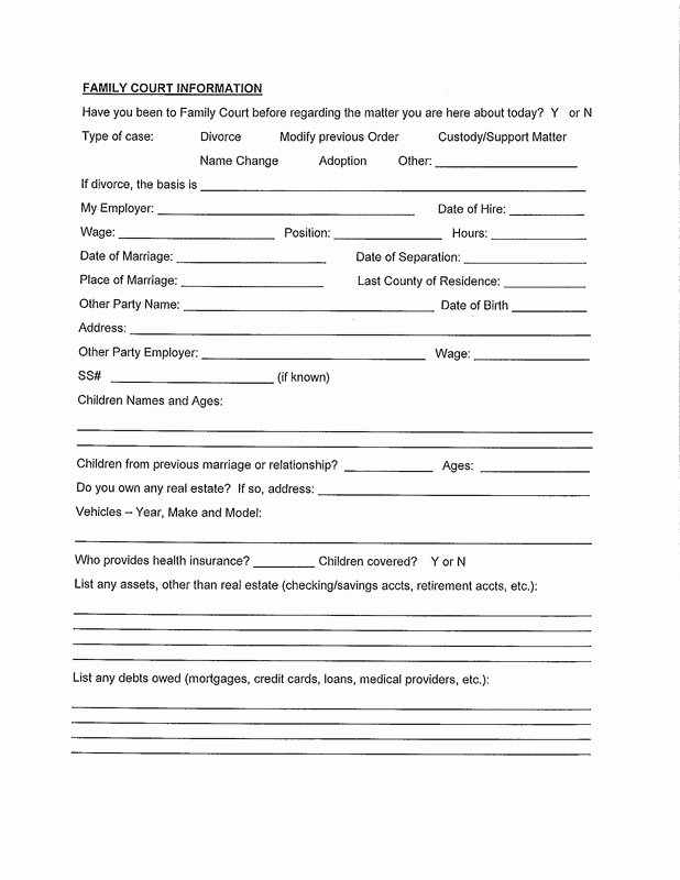 Real Estate Client Information Sheet Awesome form Talley Law Firm