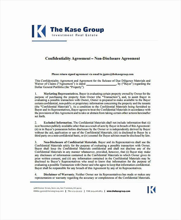 Real Estate Confidentiality Agreement Awesome 9 Audit Confidentiality Agreement Templates Pdf Doc