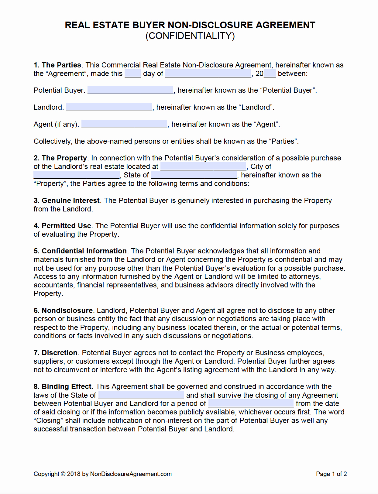 Real Estate Confidentiality Agreement Beautiful Free Real Estate Buyer Confidentiality Non Disclosure Agreement Pdf