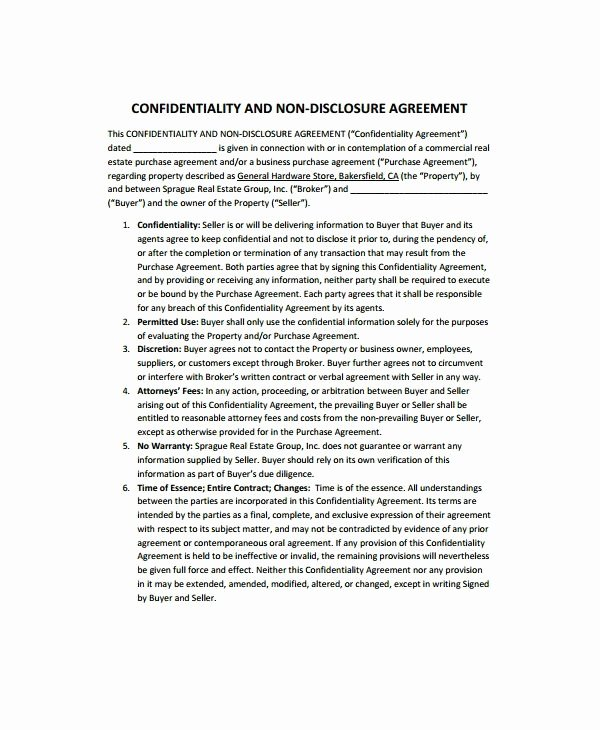 Real Estate Confidentiality Agreement Luxury 10 Real Estate Confidentiality Agreement Templates Pdf Doc