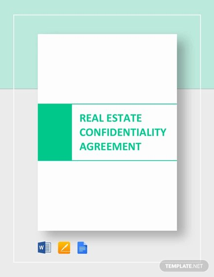 Real Estate Confidentiality Agreement Unique Real Estate Confidentiality Agreement 7 Free Word Pdf Documents Download