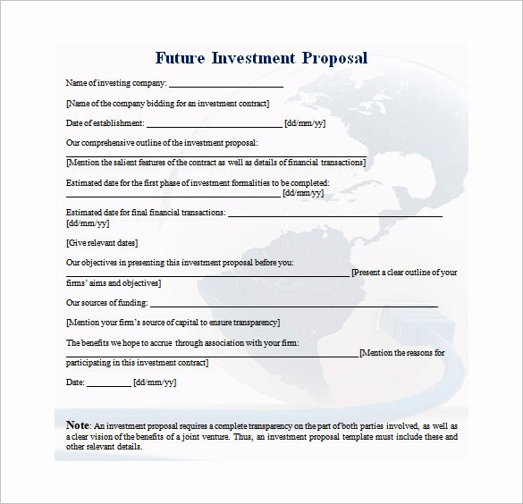 Real Estate Investment Proposal Beautiful 30 Investment Proposal Templates Word Pdf Google Docs