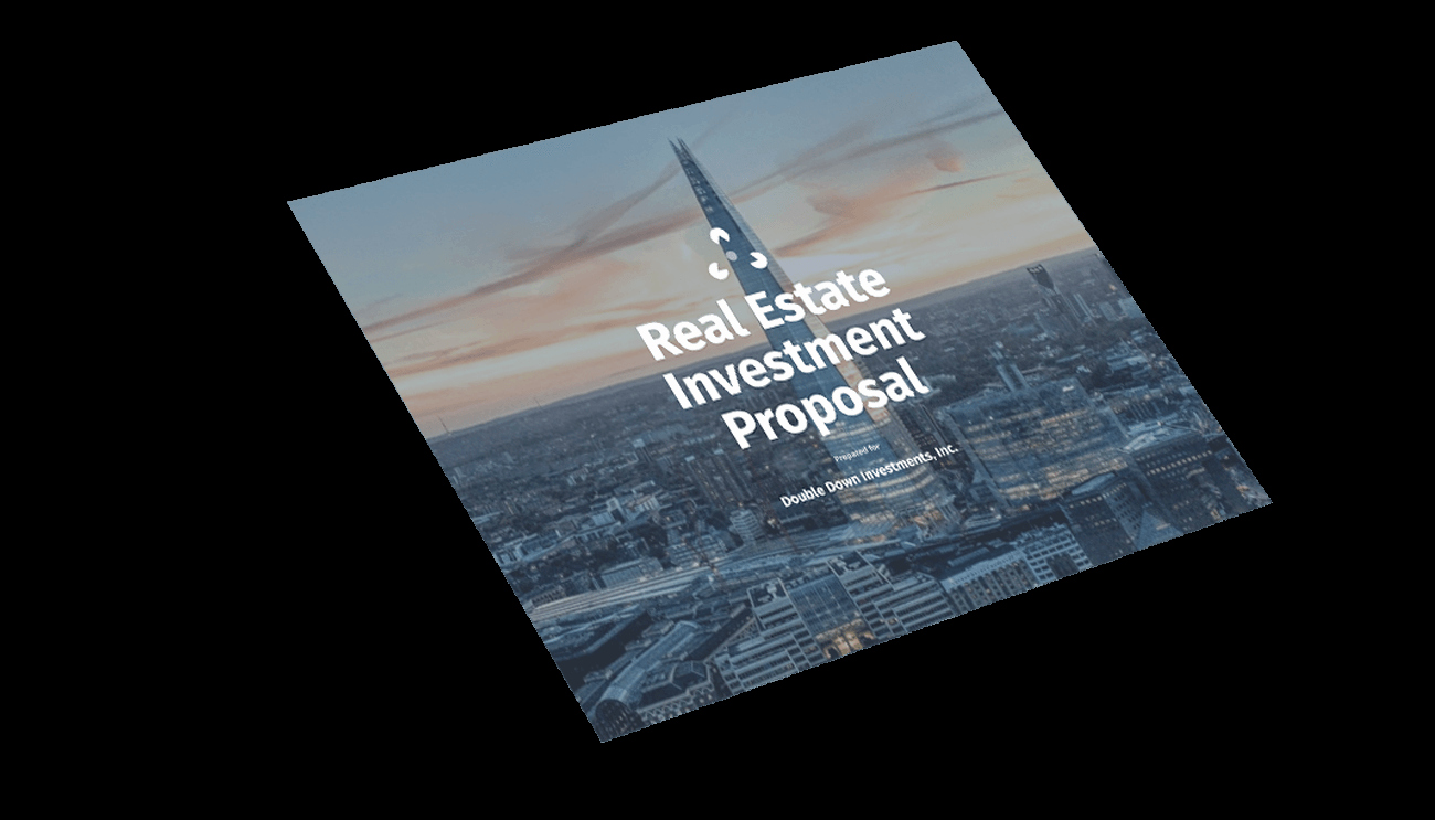 Real Estate Investment Proposal Elegant Real Estate Investment Proposal Template Professional Sample Proposal