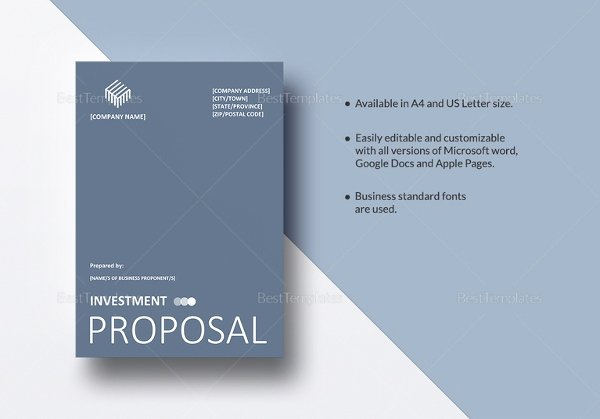 Real Estate Investment Proposal Template Beautiful Investment Proposal Templates 17 Free Sample Example