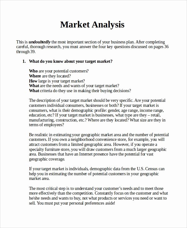 Real Estate Market Report Template Beautiful 17 Sample Market Analysis Pdf Doc