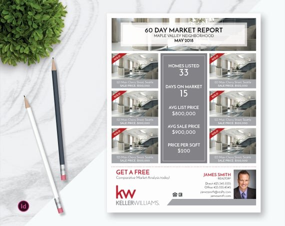 Real Estate Market Report Template Elegant Indesign Real Estate Market Update Flyer Template Real Estate