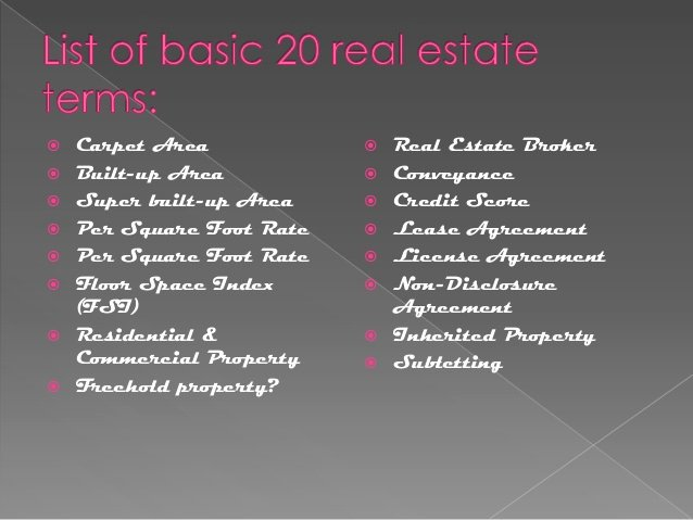 Real Estate Non Disclosure Agreement Beautiful Basic Real Estate Terms In India