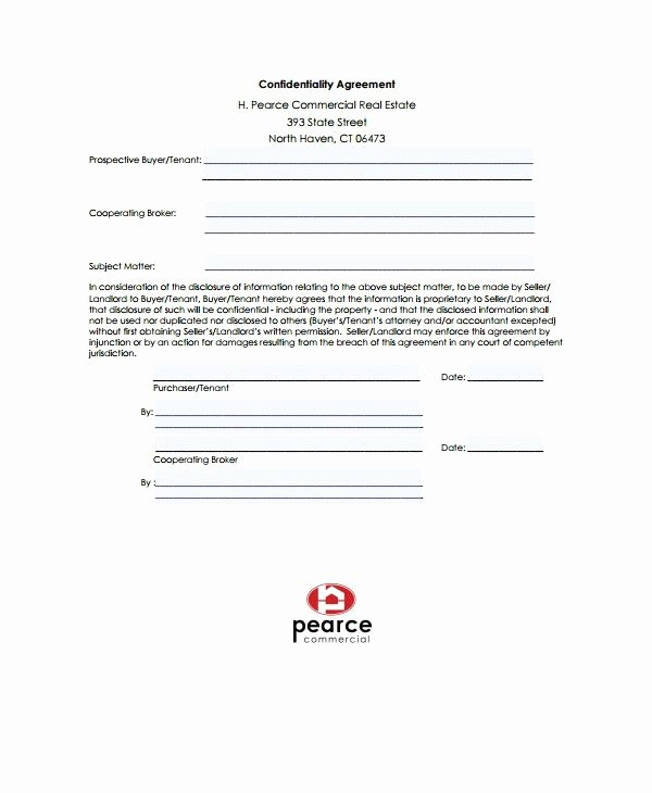 Real Estate Non Disclosure Agreement Best Of 10 Real Estate Confidentiality Agreement Templates Pdf Doc